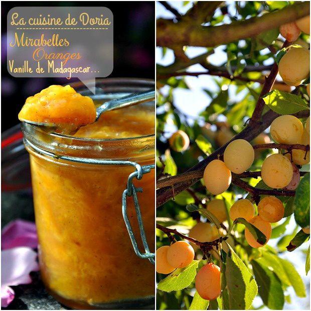 Confiture de mirabelles et oranges à la vanille de Madagascar