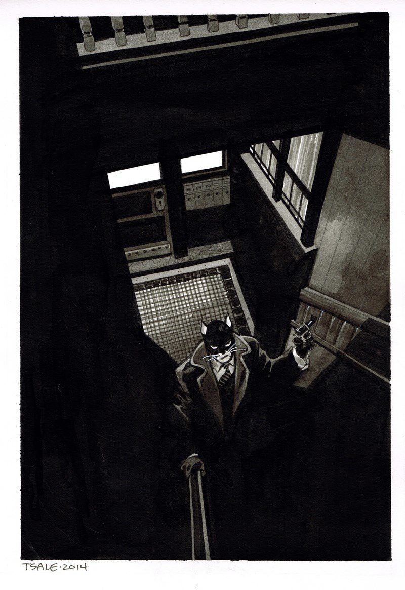 Amazing work @ Blacksad &quot&#x3B;Hommage Tim Sale&quot&#x3B;