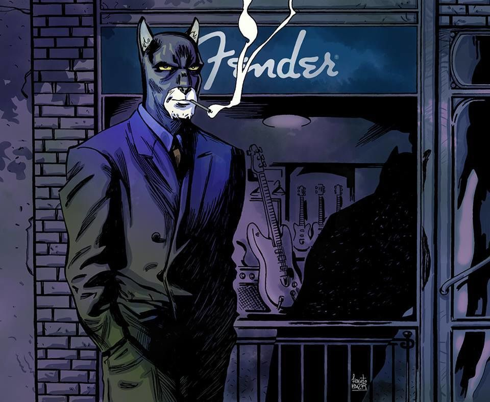 So many people are inspired by Blacksad and our project that we wanted to share their beautiful creations with everybody ! Thanks friends ! Art by Alberto Hernandez Rivero
