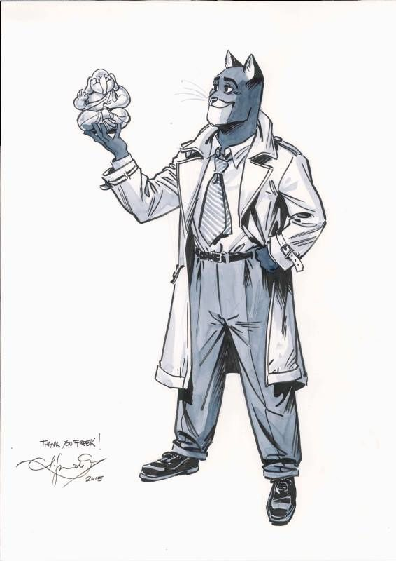 Blacksad &quot&#x3B;Copyright © Rafijn, Freek&quot&#x3B; @ Juanjo Guarnido
