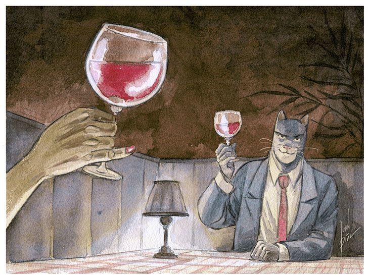 Juan Diaz Canales @ Blacksad / Etiquette de vin