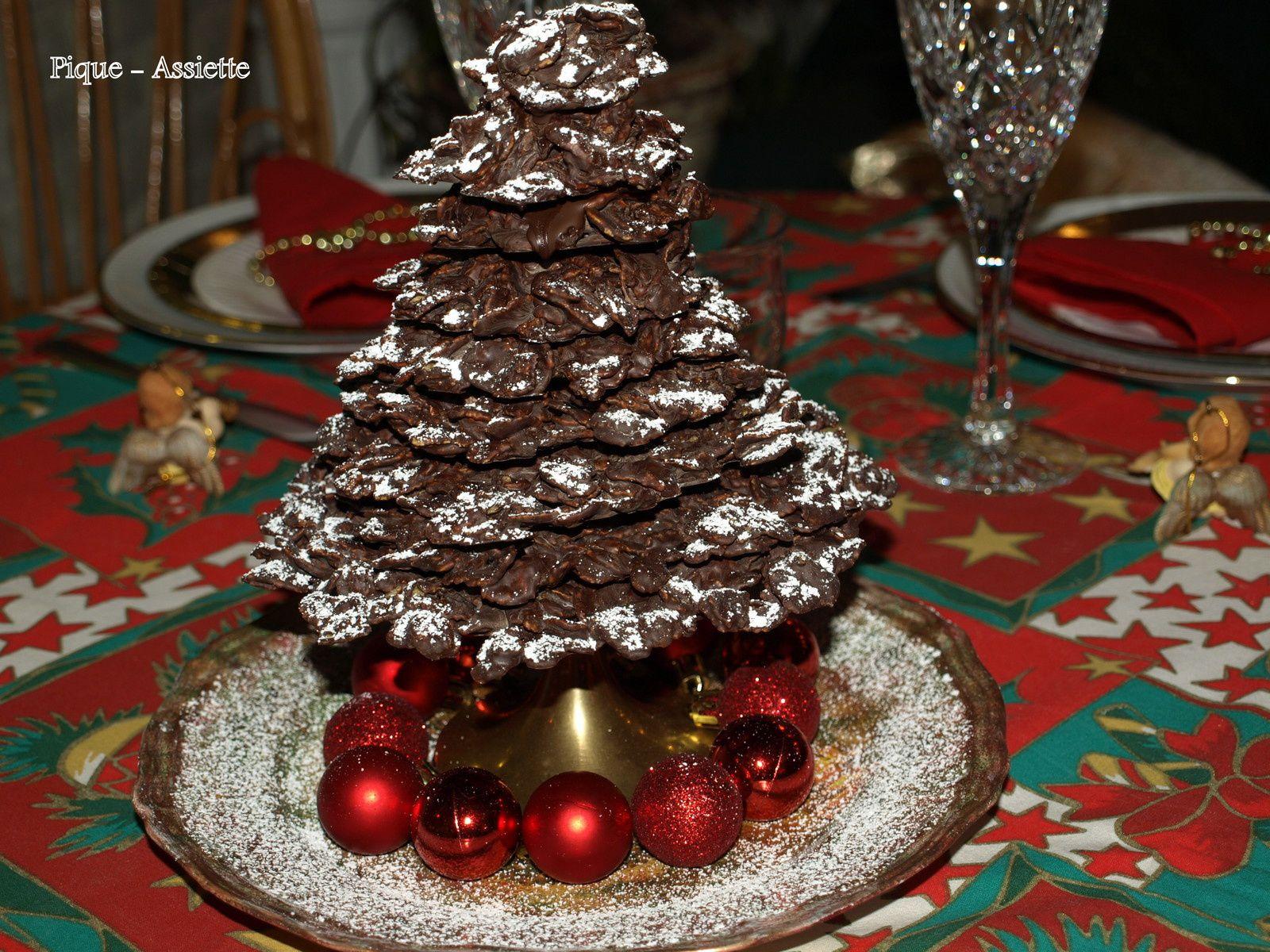 Sapin en chocolat pour deux petits amours ...