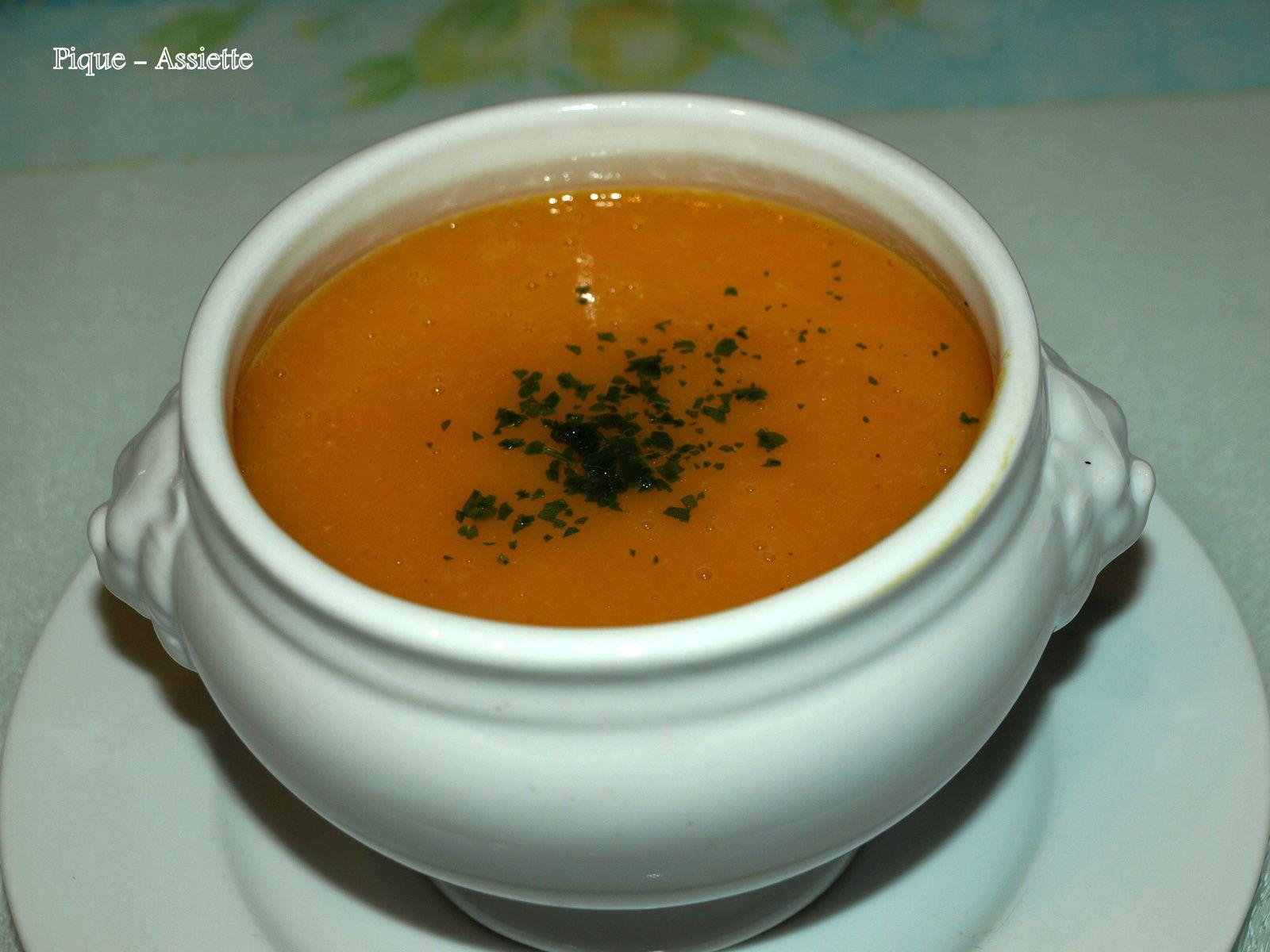 Velouté carottes et lentilles corail au curcuma ( Recette au Companion ou pas ...)