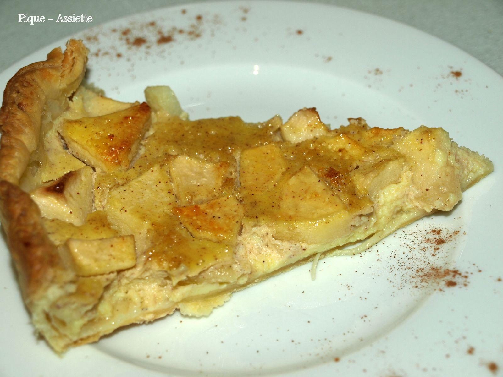 Tarte légère aux pommes et yaourt. (Recettes au Companion ou pas ...)
