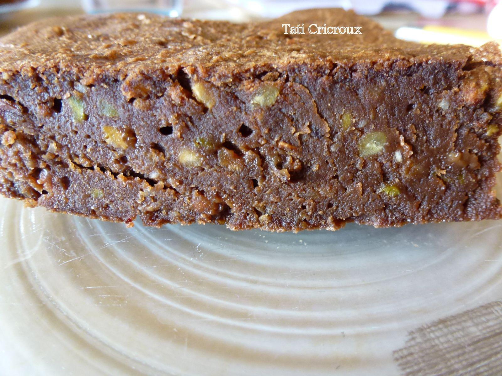 Le Brownie pistache / pralin de Tati Cricroux.