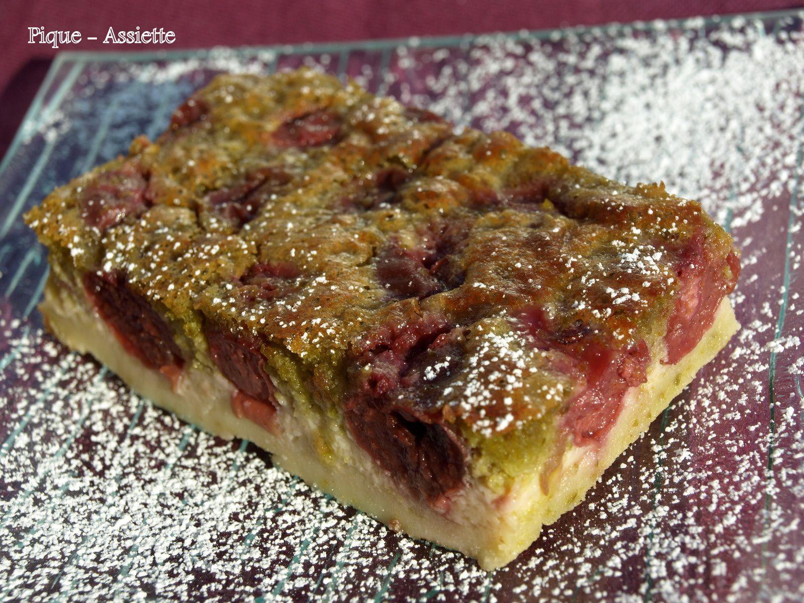 Clafoutis aux cerises et pistaches.(Recettes au Companion ou pas ...)