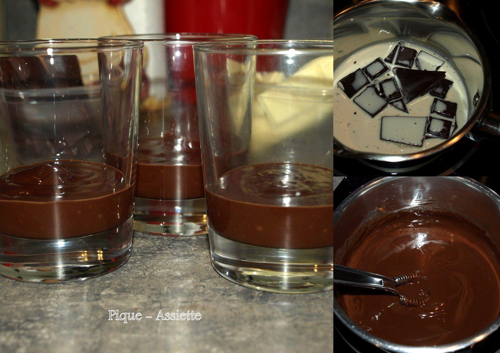Verrine aux 3 chocolats pour ce 1 er Mai ...