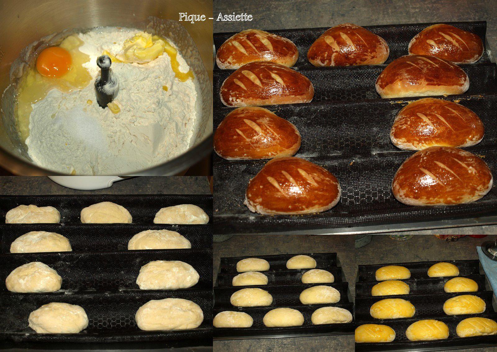 Petits pains délicieux au lait Ribot. (Recettes au Companion ou pas ... )