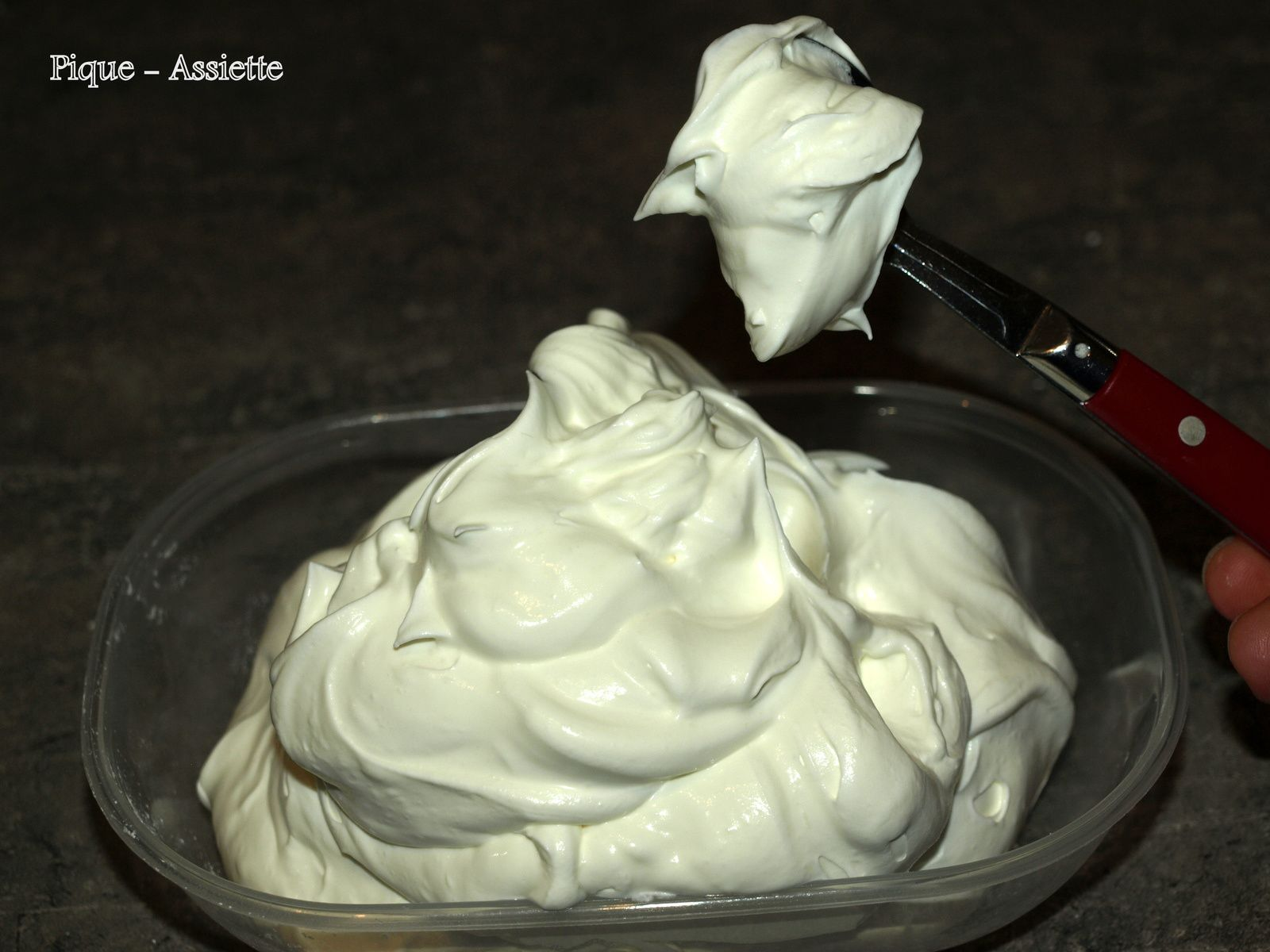 Chantilly au mascarpone maison.