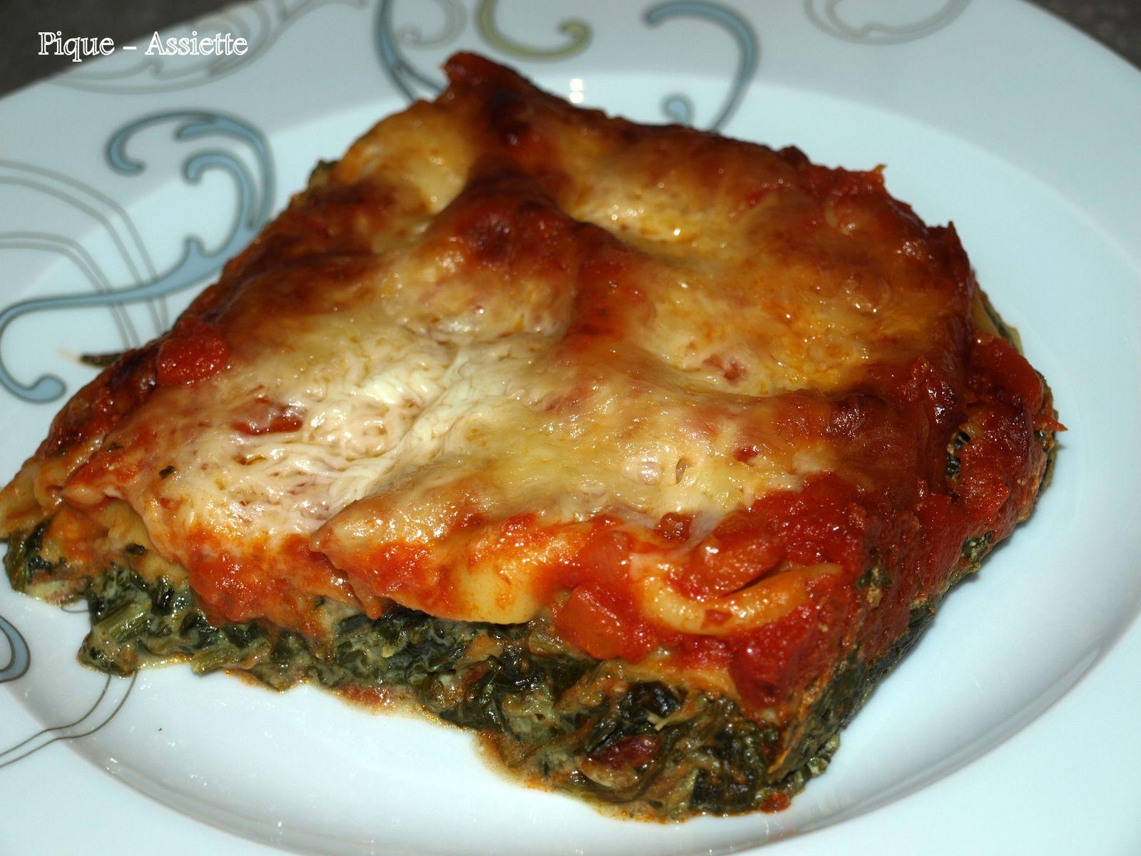 Lasagne légère au épinards et chèvre (Recettes légères)