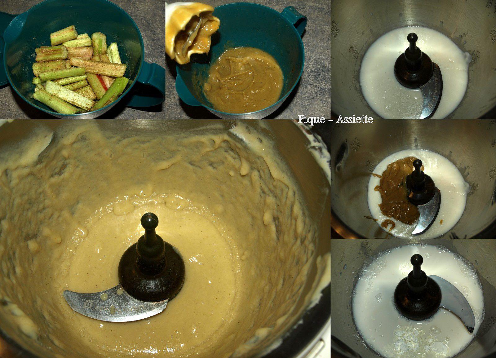 Crème à la rhubarbe et au lait d'amande.(Recettes au Companion ou pas ...)