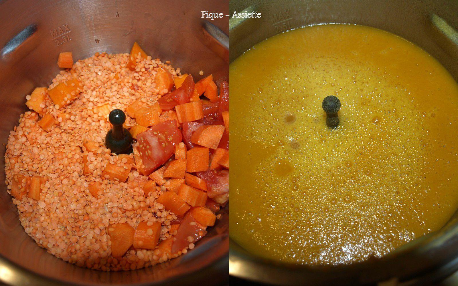 Veloutée d'automne tout orange. (Recettes au Companion ou pas ...)