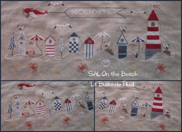 SAL On the Beach - vos broderies