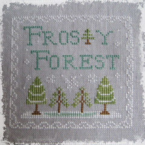 Frosty Forest - broderie terminée