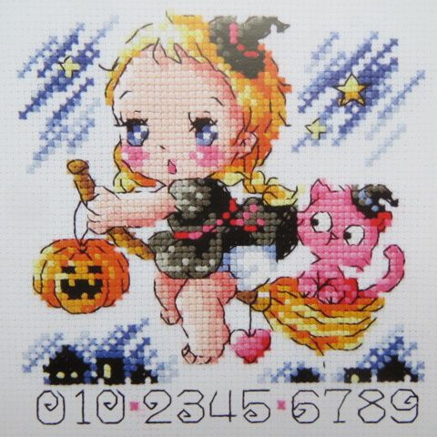 "Grille SodaStitch SO 4139 ""A little witch of the night"""