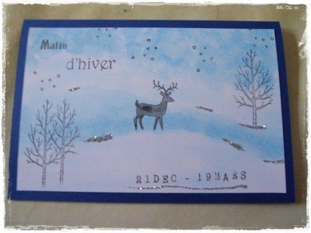 Echange de cartes thème HIVER: les photos