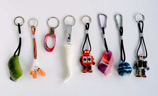 Handgefertigte Giessharz-Schlüsselanhänger