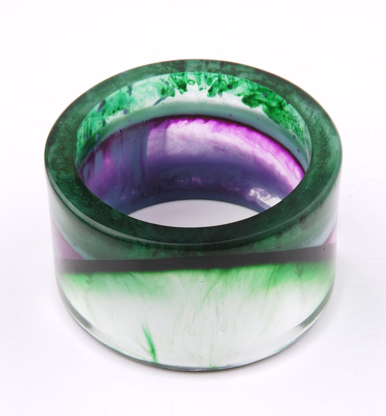 Custom order - colored resin bangle by Edna Mo