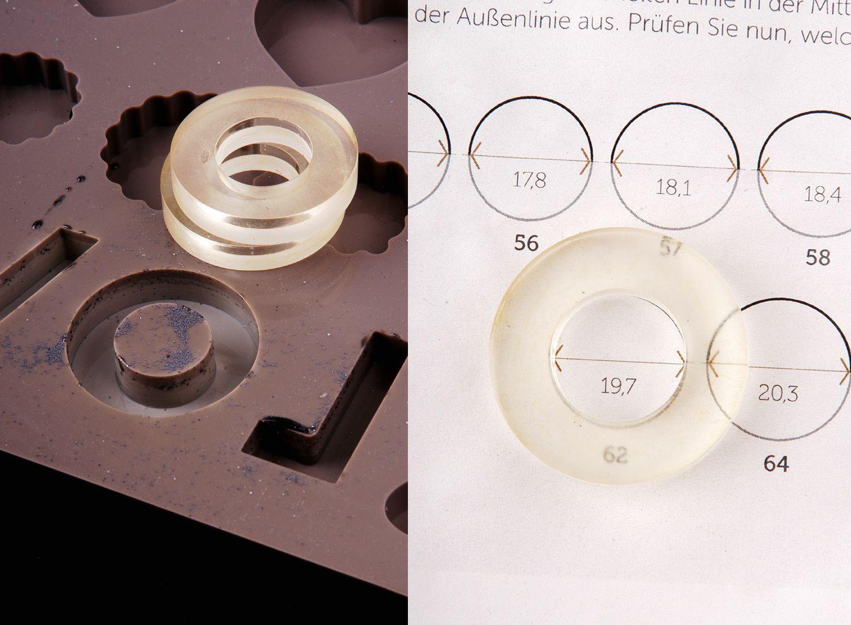 Auftragsarbeit: Kunstharz-Ringe mit Einbettung