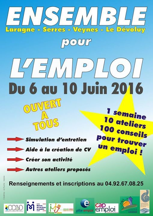 Ensemble pour l'emploi du 06 au 10 juin 2016