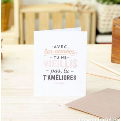 carte d'anniversaire Mr Wonderful