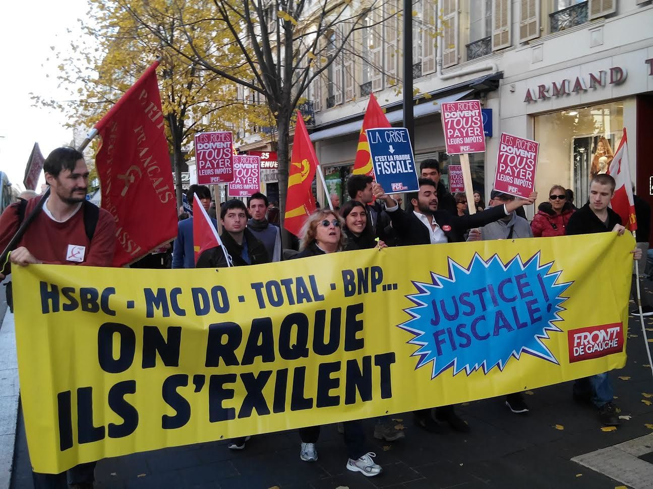 Marche pour la justice sociale et fiscale (presse, photos et texte)