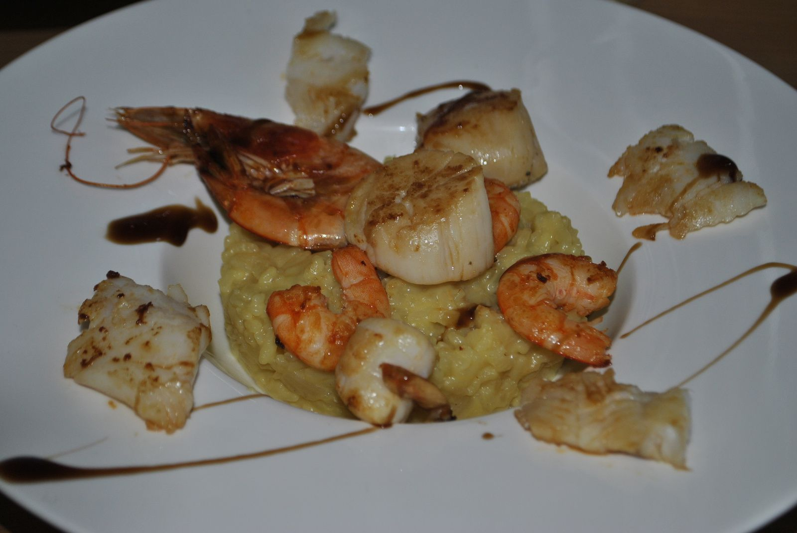 Risotto aux fruits de mer : Noix de St-Jacques, gambas !