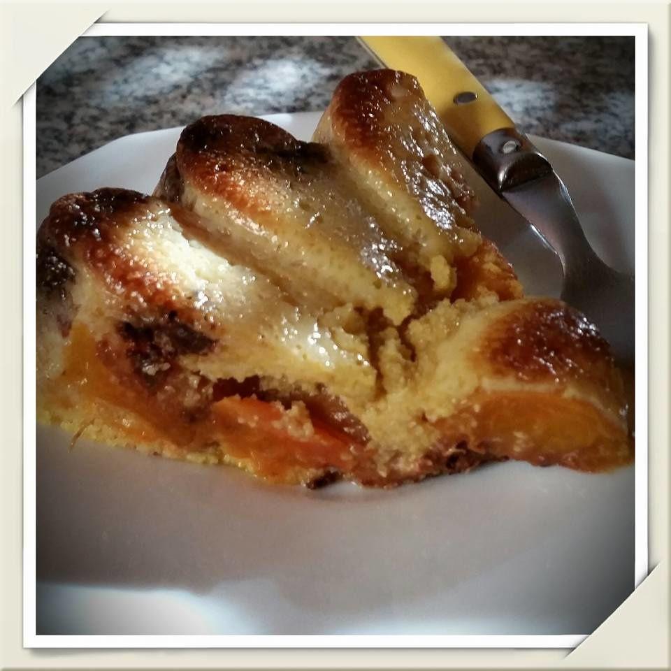 Gâteau Polenta Abricots &amp&#x3B; Pépites de Chocolat