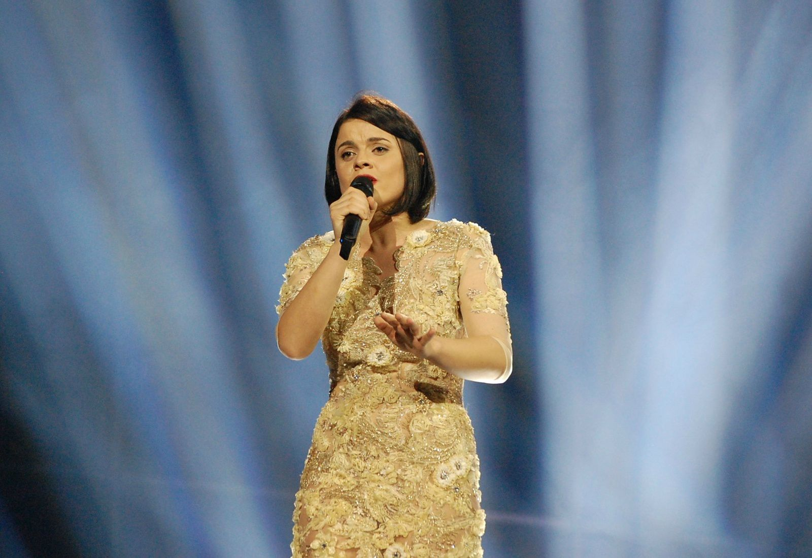 Eurovision 2014 : Hersi - One Night's Anger (Albania) Impressions of second rehearsal