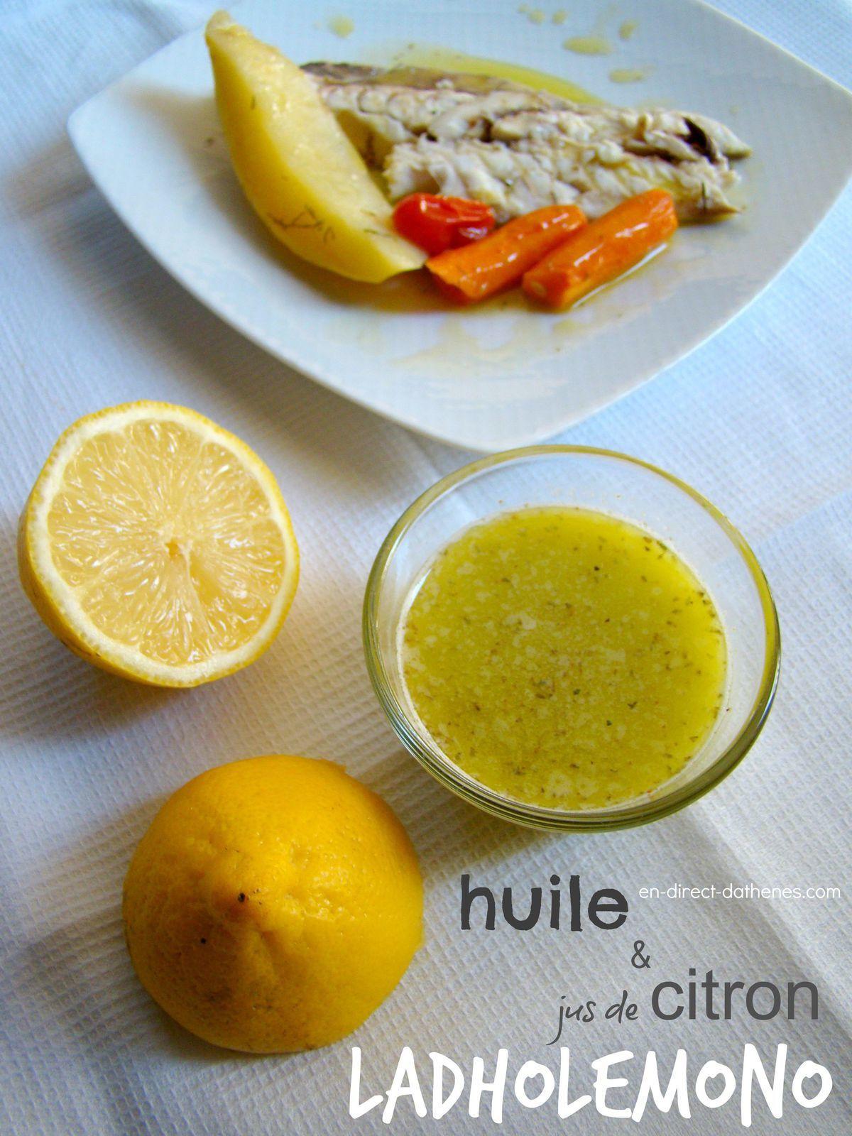 Le ladholemono : un peu d'huile et de jus de citron pour accompagner un poisson