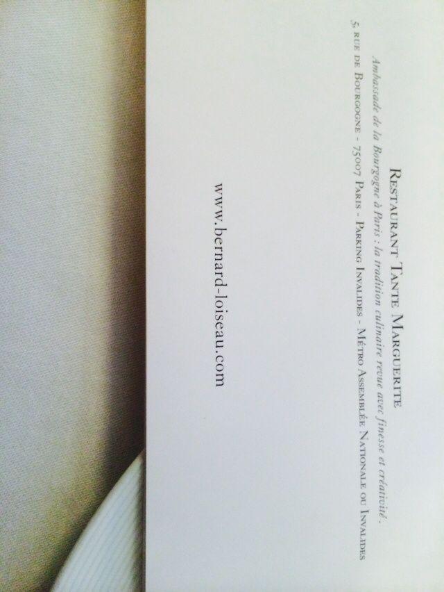 Restaurant la tante Marguerite a Paris...