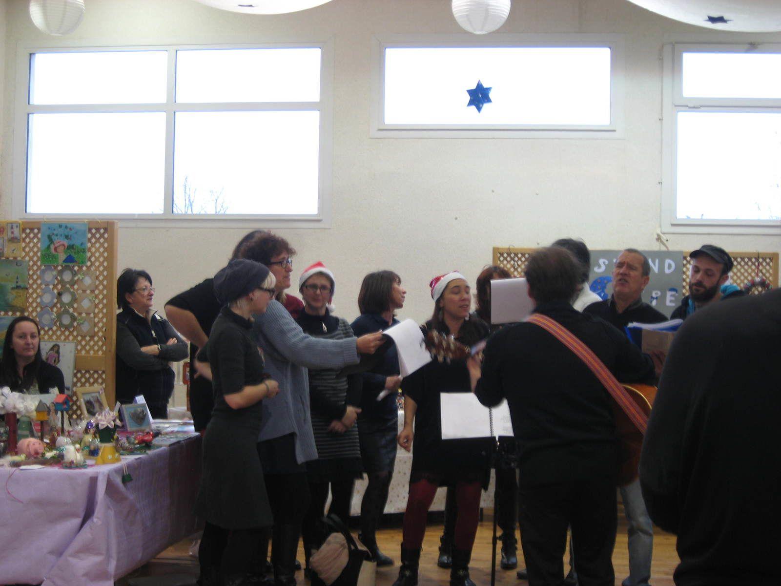 la chorale du village qui nous a ravi d'un joli petit concert