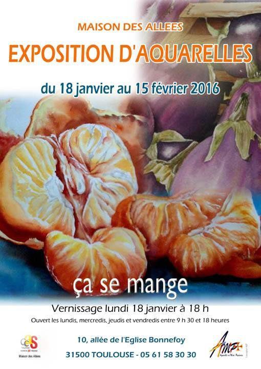 exposition aquarelles à Toulouse