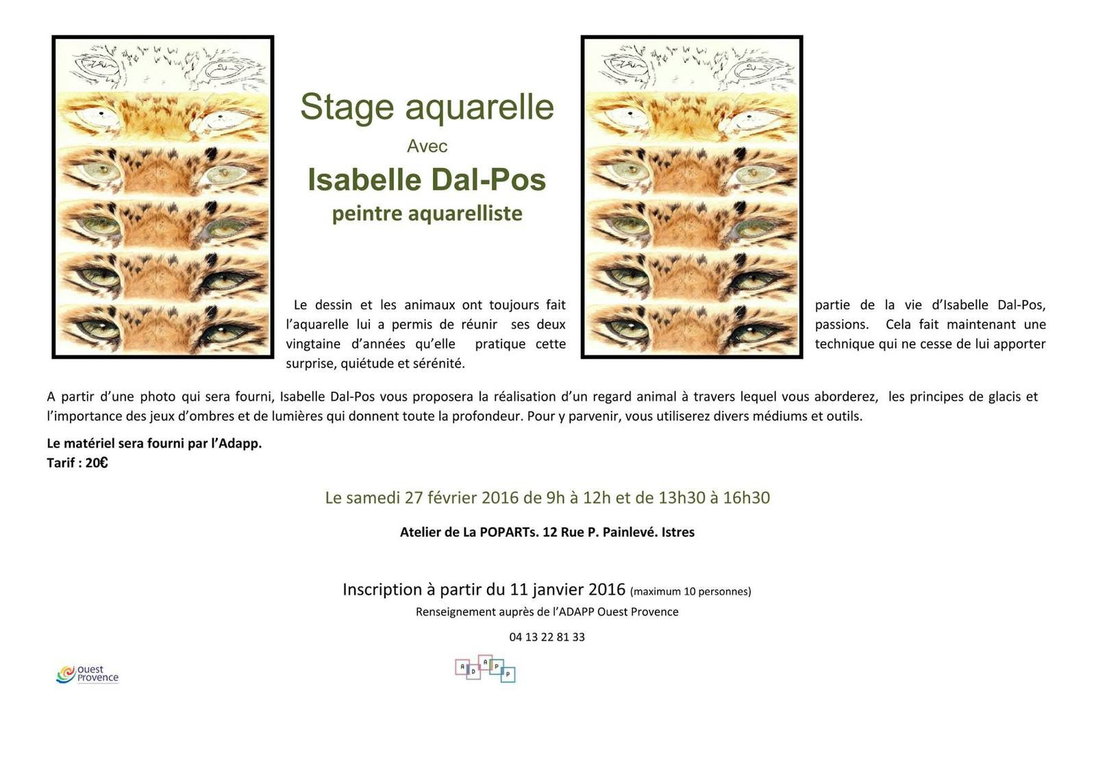 stage Isabelle Dal-Pos à Istres
