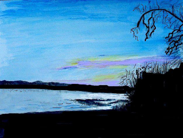 Brigitte_crayon aquarellable, acrylique, encre de chine