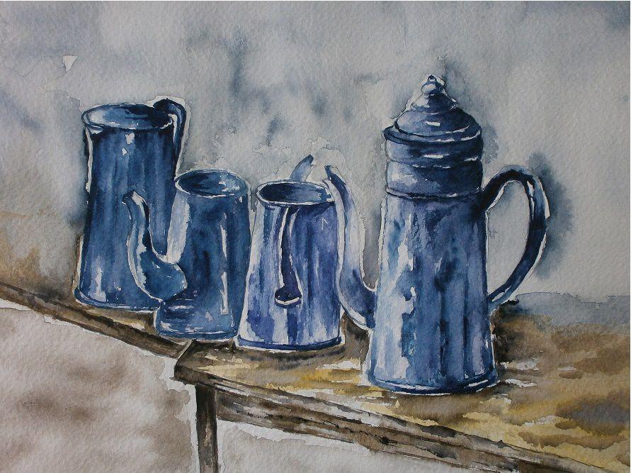 cafetières de gardn mère-Mado_aquarelle