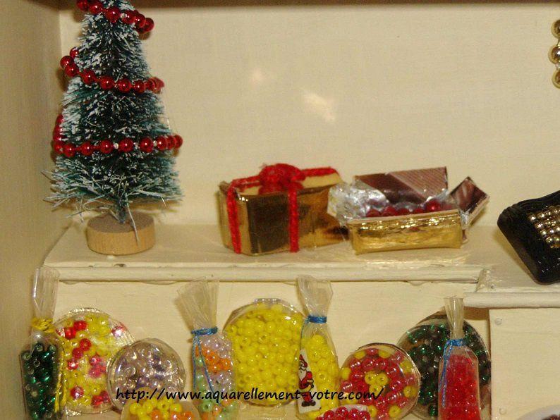 mini vitrine confiserie Noël