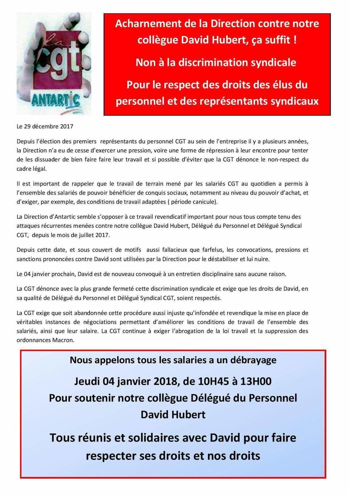 Discrimination Syndicale Antartic Saint Martin D Abbat Blog Cgt