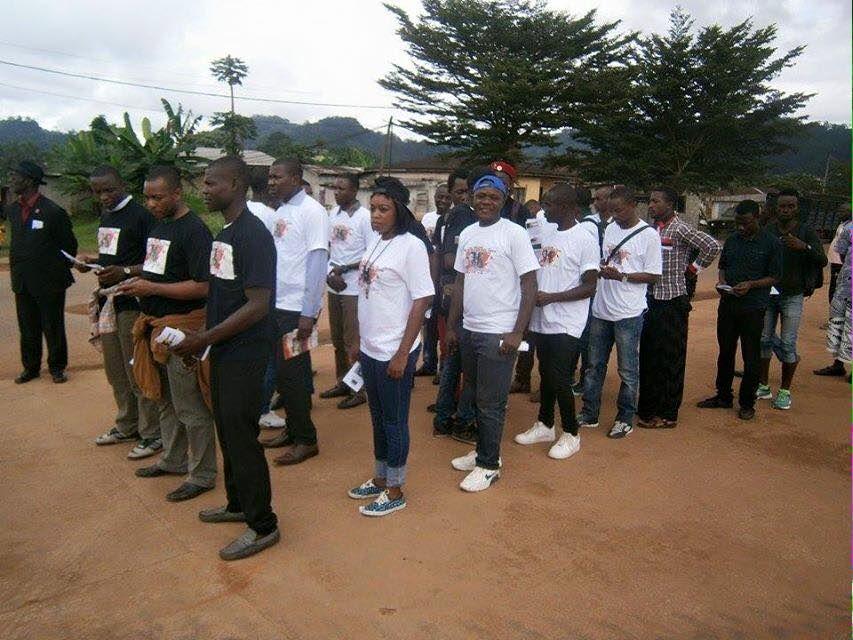 Images du pèlerinage à  la Tombe de Mpodol  Um Nyobe le père de l'indépendance camerounaise.