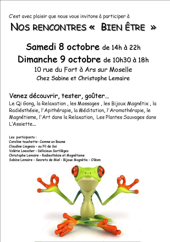 rencontres du bien être ce week end à Ars sur Moselle