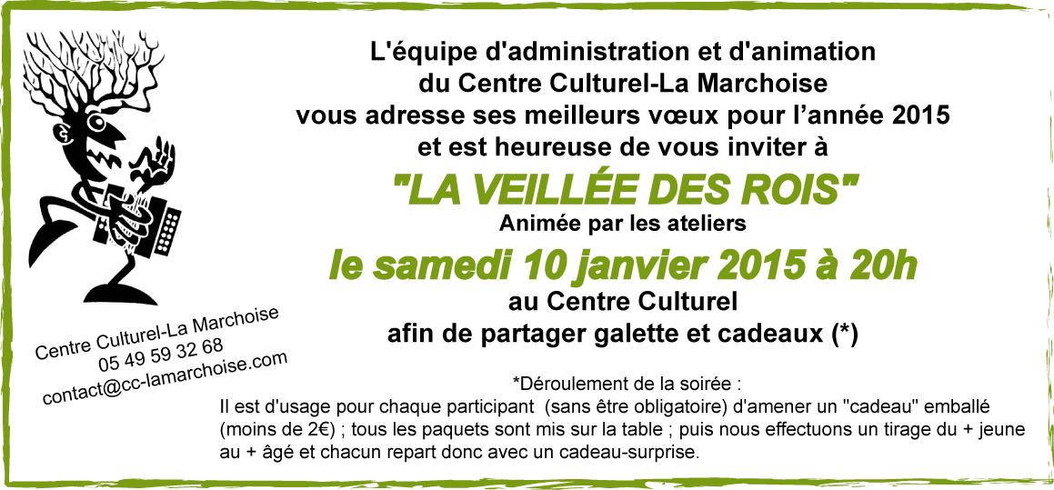 """Cette soirée sera annimée par les ateliers du Centre (Conte, Musique Collective, Écriture et """"Los Bonobos"""")"""