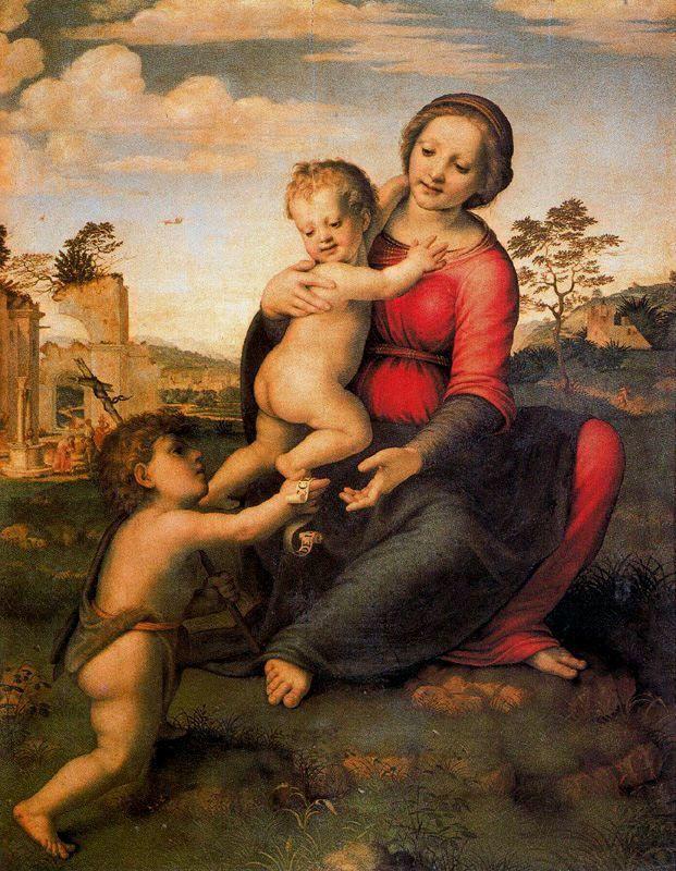 Franciabigio (1482-1525) : La Vierge du Puits, 1517-18, 106X81, Musée des Offices, Florence.
