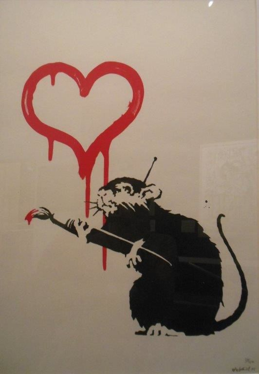 Love Rat, 2005, 50X35, collection privée (photographié à Bologne)