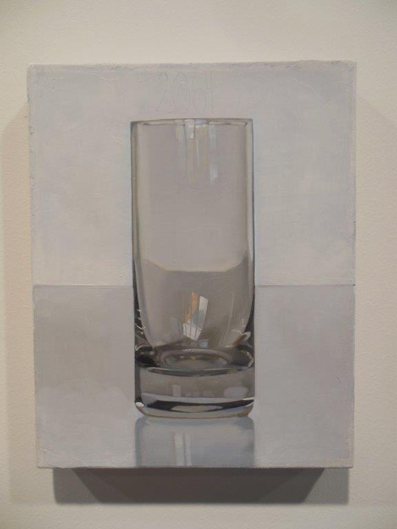 """""""Jour après jour, c'est un bon jour"""" (détail), tel est le titre de l'oeuvre de Peter Dreher, qui nous montre que tout n'a pas été dit et que oui, il est encore possible d'innover et de créer en matière de peinture figurative."""