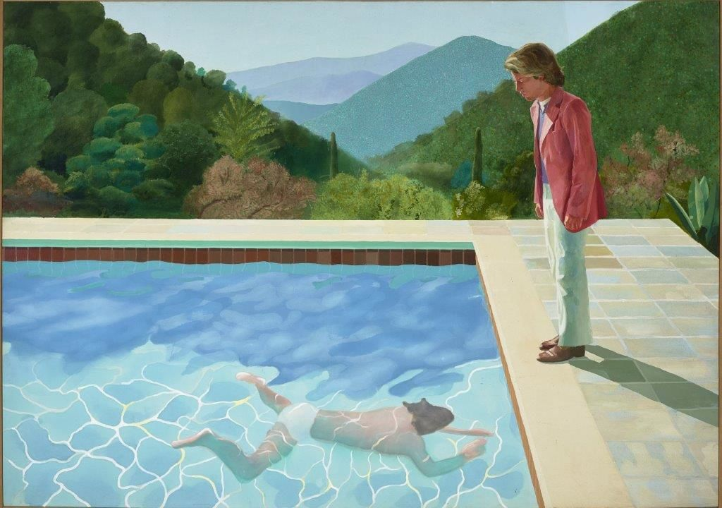 Portrait of an Artist (Pool with Two Figures), 1972, 213,5 X 305. Lewis Collection.