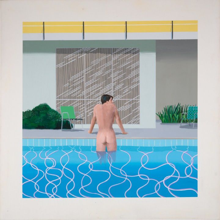 Peter Getting Out of Nick's Pool, 1966. Collection Walker Art Gallery, Liverpool.