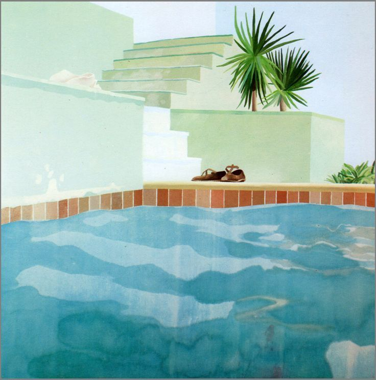 Pool and Steps, Le Nid du Duc, 1971, 183 X 183. Collection privée.