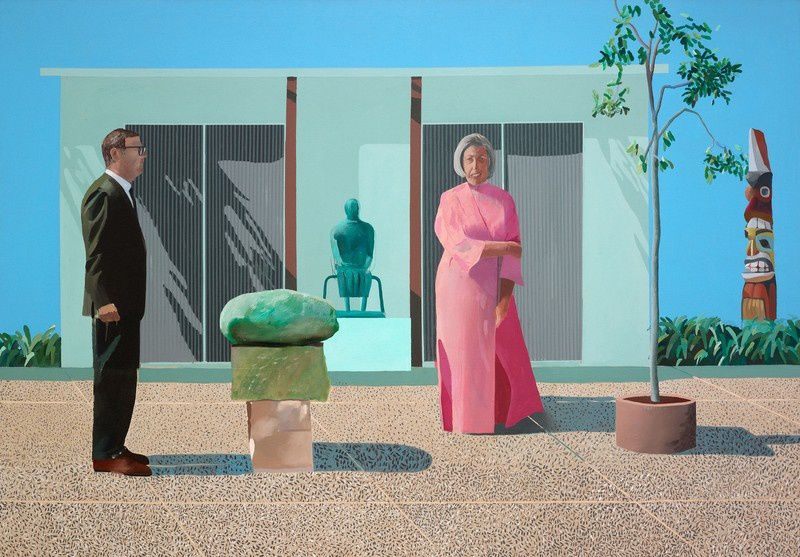 American Collectors (Fred and Marcia Weisman), 1968, 213.4 x 304.8. Art Institute of Chicago.