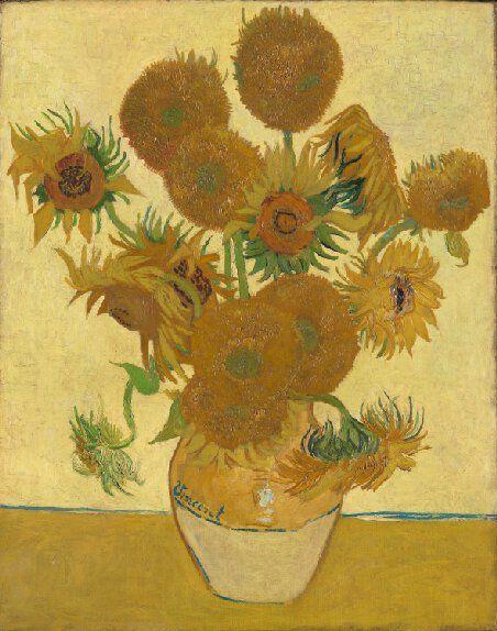 Vincent Van Gogh : Tournesols, 1888, 92 X 73. National Gallery, Londres