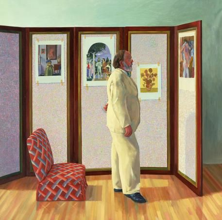 David Hockney : Looking at Pictures on a Screen, 1977, 183 X 183.